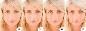 Progresión de los efectos visibles de la edad